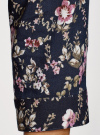 Блузка вискозная с рукавом-трансформером 3/4 oodji #SECTION_NAME# (синий), 11403189-2M/26346/794AF - вид 5