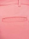 Брюки-чиносы хлопковые oodji #SECTION_NAME# (розовый), 11706207B/32887/4100N - вид 5