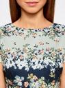 Платье на молнии приталенное oodji #SECTION_NAME# (синий), 24011019-1/45344/7930F - вид 4