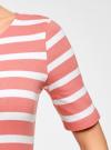 Платье прилегающего силуэта в рубчик oodji #SECTION_NAME# (розовый), 14011012/45210/4310S - вид 5