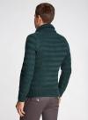 Пуловер вязаный в полоску с шалевым воротником oodji #SECTION_NAME# (зеленый), 4L207016M/44407N/6900M - вид 3