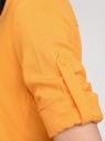 Блузка вискозная с рукавом-трансформером 3/4 oodji #SECTION_NAME# (оранжевый), 11403189-2B/26346/5500N - вид 4