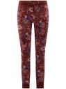 Брюки трикотажные на завязках oodji #SECTION_NAME# (красный), 16701042-1/46919/4943F