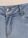 Капри джинсовые с потертостями oodji #SECTION_NAME# (синий), 12105016/45253/7000W - вид 4