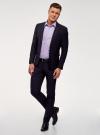 Рубашка базовая приталенная oodji для мужчины (фиолетовый), 3B140000M/34146N/8000N - вид 6