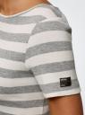 Платье A-образного силуэта с круглым вырезом oodji #SECTION_NAME# (серый), 14001201/48002/2312S - вид 5