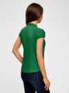 Рубашка с коротким рукавом из хлопка oodji #SECTION_NAME# (зеленый), 11403196-1/18193/6E00N - вид 3