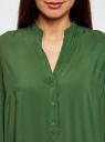 Блузка базовая из вискозы oodji #SECTION_NAME# (зеленый), 21412129-1/24681/6900N - вид 4