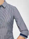 Рубашка с рукавом 3/4 хлопковая oodji для женщины (серый), 11403201-1/43346/7910S