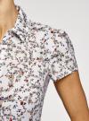 Блузка принтованная из легкой ткани oodji #SECTION_NAME# (слоновая кость), 21407022-7M/12836/1262F - вид 5