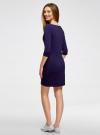 Платье трикотажное с принтом oodji #SECTION_NAME# (фиолетовый), 14001071-12/46148/8800P - вид 3