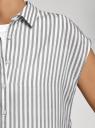 Блузка вискозная без рукавов oodji для женщины (белый), 11405145/42540/1229S