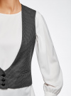 Жилет классический с декоративными карманами oodji #SECTION_NAME# (серый), 12300102/22124/2539C - вид 5