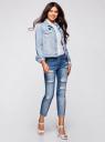 Куртка джинсовая со значками oodji #SECTION_NAME# (синий), 11109031/46654/7000W - вид 6