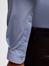 Рубашка базовая приталенная oodji #SECTION_NAME# (синий), 3B140002M/34146N/7000N - вид 4