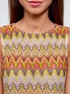 Топ из фактурной ткани с этническим узором oodji для женщины (розовый), 15F05004/45509/4152E - вид 4