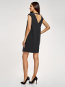 Платье прямого силуэта с глубоким вырезом на спине oodji #SECTION_NAME# (черный), 11905031/46068/2900N - вид 3