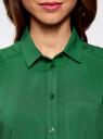 Топ вискозный с нагрудным карманом oodji для женщины (зеленый), 11411108B/26346/6E00N