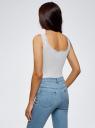 Топ трикотажный в бельевом стиле oodji для женщины (белый), 14306005B/48684/1200N