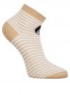 Комплект из трех пар хлопковых носков oodji для женщины (разноцветный), 57102418-5T3/48418/1 - вид 3