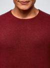 Джемпер базовый с круглым воротом oodji #SECTION_NAME# (красный), 4B112003M/34390N/4C00M - вид 4