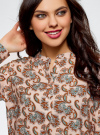 Блузка вискозная А-образного силуэта oodji #SECTION_NAME# (розовый), 21411113B/26346/5470E - вид 4