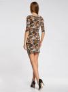 Платье трикотажное облегающее oodji #SECTION_NAME# (разноцветный), 14001121-3B/16300/6855F - вид 3