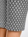 Брюки облегающие из эластичной ткани oodji для женщины (белый), 11707116-1/31266/1229G