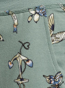 Брюки трикотажные на завязках oodji для женщины (зеленый), 16701042-1B/46919/6C83O