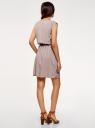 Платье вискозное без рукавов oodji для женщины (серый), 11910073B/26346/2300N