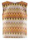 Топ из фактурной ткани с этническим узором oodji #SECTION_NAME# (розовый), 15F05004/45509/4152E