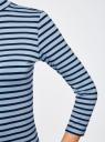 Водолазка базовая с рукавом 3/4 oodji для женщины (синий), 15E01001/42814/7079S