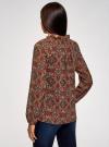 Блузка прямого силуэта с цепочками oodji #SECTION_NAME# (красный), 11414007/17358/4968E - вид 3