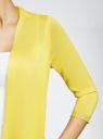 Кардиган легкий с удлиненными полами oodji #SECTION_NAME# (желтый), 63212473-1/35762/5100X - вид 5