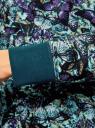 Свитшот принтованный с круглым вырезом oodji для женщины (бирюзовый), 14807021-1/46919/7083U