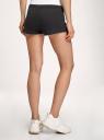 Комплект из двух трикотажных шорт oodji для женщины (черный), 17001029T2/46155/2900N