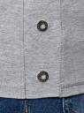 Топ хлопковый с люверсами oodji #SECTION_NAME# (серый), 14305032/46159/2000M - вид 5