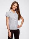 Блузка принтованная из легкой ткани oodji #SECTION_NAME# (белый), 21407022-9/12836/1029D - вид 2