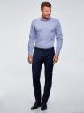 Рубашка базовая хлопковая oodji #SECTION_NAME# (синий), 3B110017M-2/48420N/7002N - вид 6