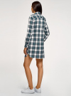 Платье-рубашка с карманами oodji #SECTION_NAME# (разноцветный), 11911004-2/45252/1279C - вид 3