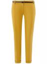 Брюки-чиносы с ремнем oodji #SECTION_NAME# (желтый), 11706190-5B/32887/5700N