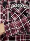 Рубашка в клетку с нагрудными карманами и декором из страз oodji #SECTION_NAME# (красный), 11411052-3/45772/294CC - вид 5