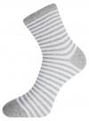 Комплект хлопковых носков в полоску (3 пары) oodji #SECTION_NAME# (разноцветный), 57102813T3/48022/11