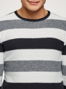 Джемпер вязаный с круглым вырезом oodji #SECTION_NAME# (разноцветный), 4L112238M-1/25165N/1279S - вид 4