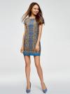Платье прямое базовое oodji #SECTION_NAME# (синий), 22C01001-1B/45559/7557E - вид 2
