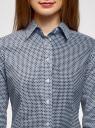 Рубашка хлопковая приталенного силуэта oodji #SECTION_NAME# (синий), 23K02001/48461/1075G - вид 4