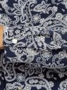 Туника принтованная из вискозы с ремнем oodji #SECTION_NAME# (синий), 21412057-4/24681/7912E - вид 5