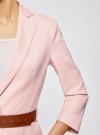 Жакет льняной с широким ремнем oodji #SECTION_NAME# (розовый), 21202076-2/45503/4000N - вид 5