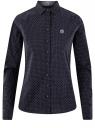 Рубашка принтованная с вышивкой oodji для женщины (синий), 13K11008/43609/7970G
