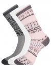 Комплект носков из 3 пар oodji для женщины (разноцветный), 57102905T3/47613/6 - вид 2